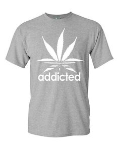 Addicted t-shirt marijuana weed dope swag urban hipster top rétro fashion illest