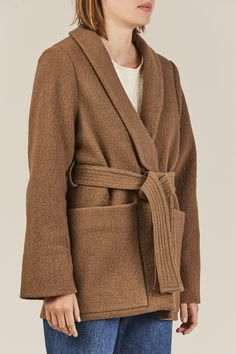 Big Sur Wool Blazer Coat, Nutmeg - Apiece Apart