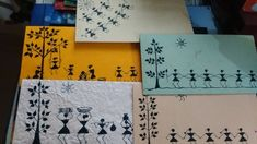 warli painting envelopes made with handmade paper