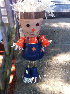 12 Planter Pot Person People Halloween by GARDENFRIENDSNJ on Etsy, $30.00