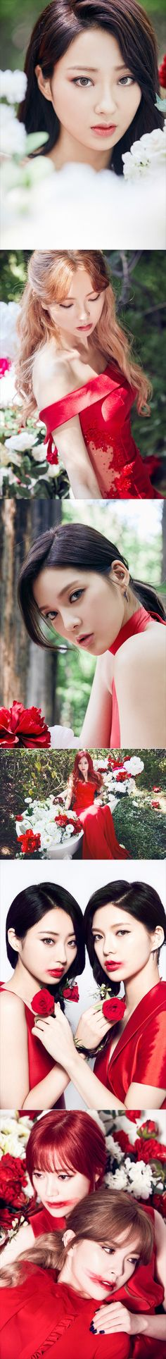 Nine Muses are breathtaking in vivid red for 'Identity' | allkpop.com