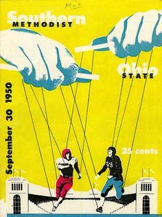 Southern Methodist vs. Ohio State Football Game Program Cover (1950) by SMU Central University Libraries, via Flickr