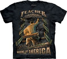 Teacher t-shirt. Education change the world! 100% Cotton Pre-shrunk, Medium weight. Relaxed fit, Regular. Unisex, Regular. #tshirt #teacher #teachersday #school #leanbrothers