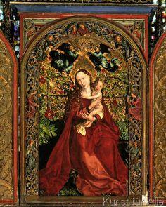Martin Schongauer - Maria im Rosenhag