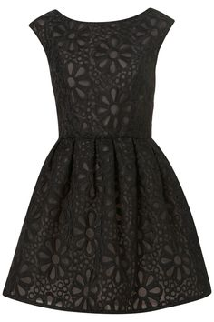 BLACK EMBROIDERED PROM DRESS    Price:£65.00 // pair it with a pair of big round black sunglasses and i'll take it