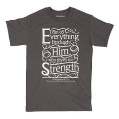 All things are possible with God! Spread His word in this comfy tee. Product Details - Durable and soft ring-spun cotton material - Machine washable - Printed in the USA - 100% ring-spun cotton Size &