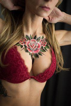 Whole Lotta Rosie temporary tattoo by Dan Smith.