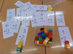 Using LEGO to Build Math Concepts. Source here Creating Math Patterns with Golf Tees. Montessori Math, Preschool Math, Kindergarten Math, Teaching Math, Math Addition, Addition And Subtraction, Math Games, Math Activities, Legos