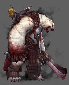 Sung Kwon Oh the killer polar bear Alien Concept Art, Creature Concept Art, Creature Design, Character Concept, Character Art, Character Design, Magical Creatures, Fantasy Creatures, Dark Creatures