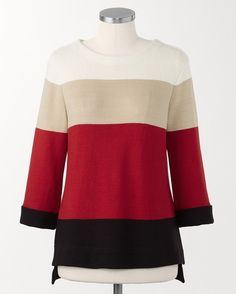 Colorblock pullover - [K22870]