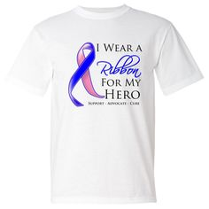 Male Breast Cancer I Wear a Ribbon For My Hero support shirts #MaleBreastCancer #MaleBreastCancerawareness #MaleBreastCancerribbonshirts
