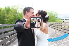 Smartphone love. #wedding #photo #ideas  Our wedding photo made it onto Carnival Cruise Lines photo ideas page     WOW!
