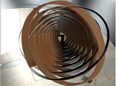 SCULTURA SUL FONTE BATTESIMALE. 3 spirali concentriche che formano in sommità un cerchio come rimando ideologico al concetto della TRINITà