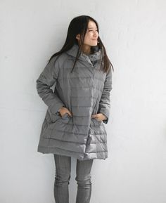A-line Down Jacket Hooded Winter Down Jacket Women Warm Down Coat ...