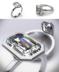 James Allen Platinum Emerald cut Engagement Ring Solitaire Diamond Engagement Rings by James Allen