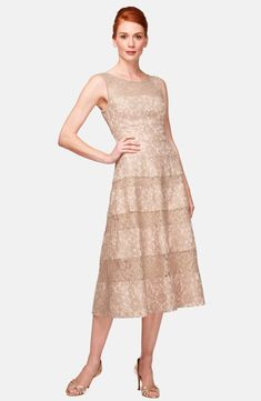 c6723b3a6ec3f7 Free shipping and returns on Kay Unger Lace Midi Dress at Nordstrom.com. A