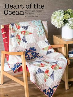 Heart of the Ocean Quilt Pattern by Jocelyn Ueng, featured in Quilty Magazine