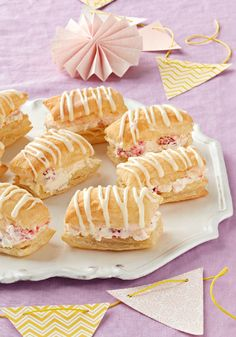 "Raspberry-Lemonade ""Cream Puffs"" – Fans of cream puffs will like these sweet and citrusy treats. They look like the work of a pro—but you can make 'em at home with puff pastry sheets!"