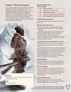 Dungeons And Dragons Rules, Dungeons And Dragons Classes, Dungeons And Dragons Characters, Dungeons And Dragons Homebrew, Dnd Characters, Cleric Domains, Dnd Cleric, Dnd Races, Dnd Classes
