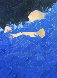Art And Illustration, Book Illustrations, Koi, Ways To Fall Asleep, Rabbit Art, Girl Sketch, Hand Art, Korean Artist, Australian Artists