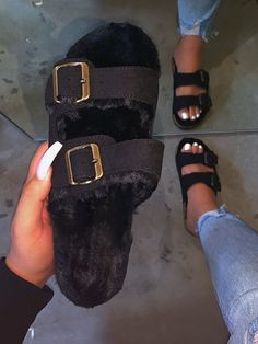 These footwear are chic, pleasant, and the perfect addition to any outfit! Cute and shoes that are trendy people on our online store! Cute Sandals, Shoes Sandals, Shoes Sneakers, Sock Shoes, Shoe Boots, Fluffy Shoes, Hot Girls, Hype Shoes, Fresh Shoes