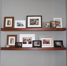 Shallow floating alcove shelves. Veneered board with solid wood edging. Hand made in London #BespokeFurniture www.timamery.com