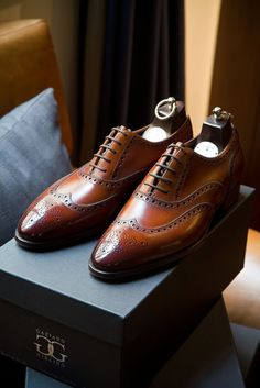 Bespoke Brogues, by Gaziano & Girling...Those are big shoes that have to be filled.Please God, fill these shoes with your loving guidance and lead this son to raise his children to be your humble servants.