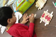 I Love you to pieces. A fine motor gift for mom and dad. Students paint puzzle pieces, glue Popsicle sticks, and put it all together to form a sweet gift. Great Fine Motor Development Activity.