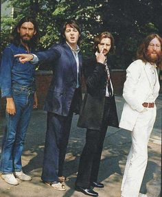 """The Beatles before their iconic Abbey Road shot."" http://www.viralnova.com/rare-historical-photos-gallery/3/"