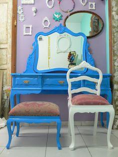 Ateliando - Customização de móveis antigos: Penteadeiras II
