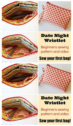 Here's another fantastic sewing pattern from So Sew Easy. The Date Night Wristlet is a perfect to pick up and run out the door bag.