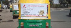 Advertising on Pune Auto Rickshaw