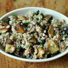 ... mushroom green bean farro salad roasted mushroom and green bean farro
