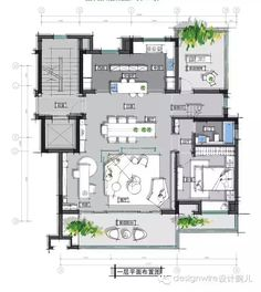 Home Building Design, Home Design Plans, House Design, Space Architecture, Residential Architecture, Small House Plans, House Floor Plans, Hotel Floor Plan, Courtyard House Plans