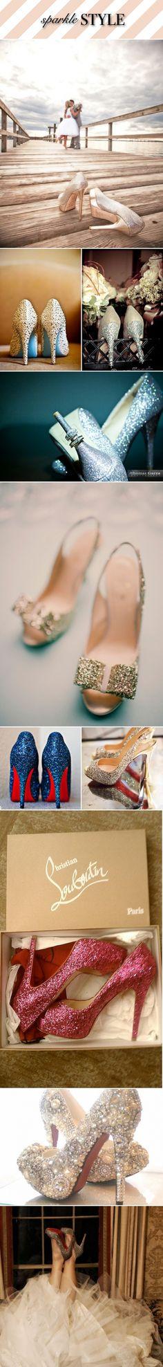 glamorous sparkle wedding shoes