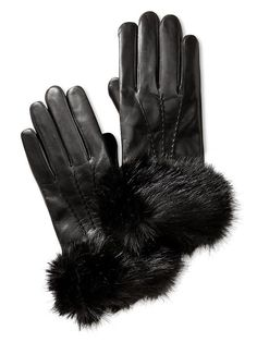 Cuff Leather Glove: my mother had a brown leather pair when I was a little girl, and I loved playing diva while wearing them!