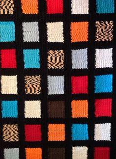 A checker board of simple eclectic blocks Checker Board, Friendship Bracelets, Range, Blanket, Simple, Crochet, Jewelry, Cookers, Jewlery
