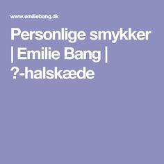 Personlige smykker | Emilie Bang | ♡-halskæde