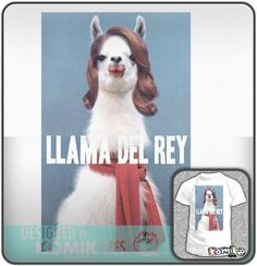 Llama Del Rey Funny Komik Tees Music T Shirt Mens Sizes s XXL   eBay