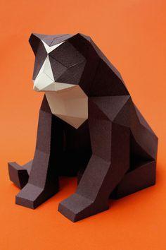 Paper art animal Carolina et Juan https://www.behance.net/guardabosques