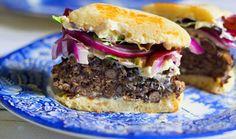 """Black Bean Burgers"" http://www.agardenforthehouse.com/2017/05/black-bean-burgers/"