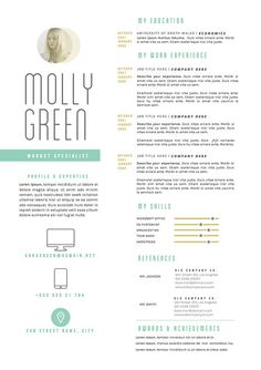 Creative cv template in MS Word. Including matching cover letter ...