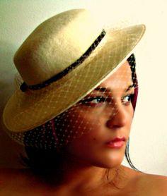 Gorgeous M sieu Leon Brimmed Hat by AntiqueAlchemists on Etsy, $60.00