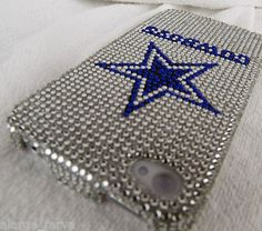 Dallas Cowboys NFL Bling iPhone 4 4S Case Snap On Cover Faceplate Protector