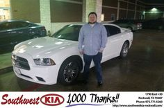 https://flic.kr/p/EBmFhp   Happy Anniversary to J.P on your #Dodge #Charger from James Adams at Southwest KIA Rockwall!   deliverymaxx.com/DealerReviews.aspx?DealerCode=TYEE