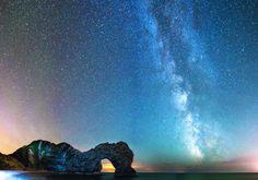 Durdle Door, Milky Way, astrophotography, star landscape, Dorset Photography Workshops, Photography Website, Amazing Photography, Landscape Photography, Milky Way Photos, Harry Rocks, Jurassic Coast, World Heritage Sites, Geology