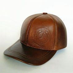 Top leather winter cap unisex hip top baseball cap warm hats