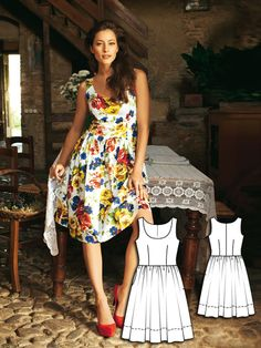 Pattern of the Week Style Guide: Tank Dress with Gathered Skirt. Sew the Perfect Summer Dress.