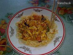 Čína z woku (fotorecept) - recept | Varecha.sk Wok, Spaghetti, Ethnic Recipes, Noodle
