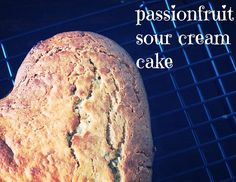 passionfruit sour cream cake | Retro Mummy